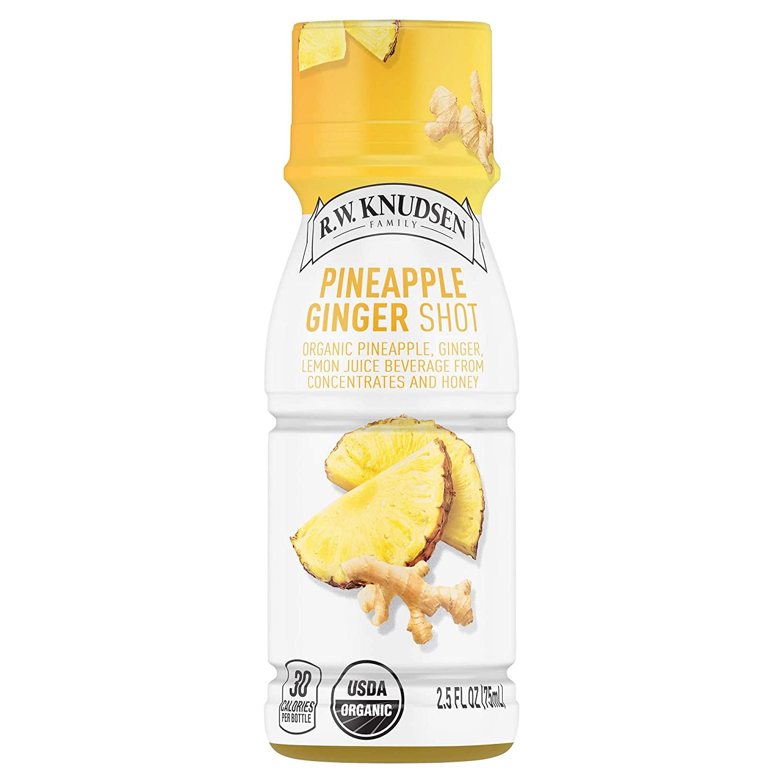R.W. Knudsen Organic Pineapple Ginger Juice Shots, 2.5 Fluid Ounces (Pack of 12)