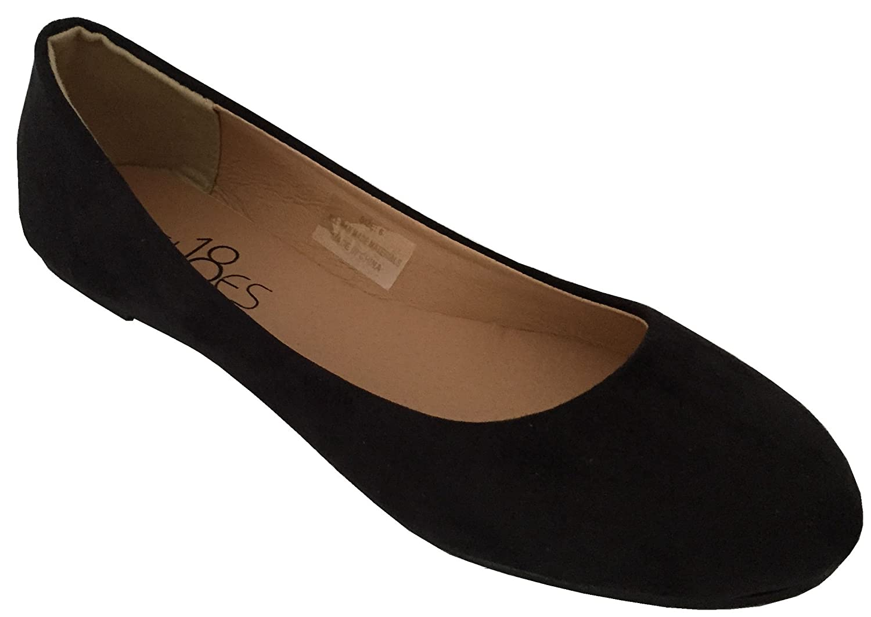 sh18es Shoes 18 Womens Basic Round Toe Ballet Flats Shoes