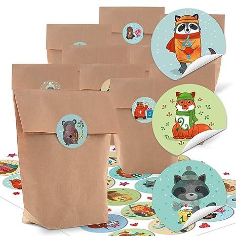 ac4107bb5 24 pequeñas bolsas de papel natural marrón papel kraft 14 x 22 x 5,6 ...