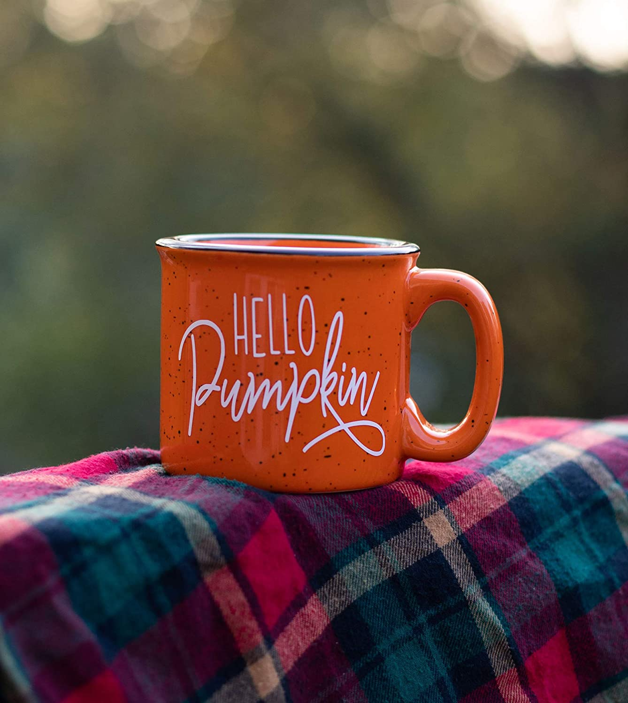 Pumpkin Campfire Mug Fall Decor Rustic Decor Pumpkin Spice Latte Gift for Friend Good Morning Pumpkin Fall Coffee Mug