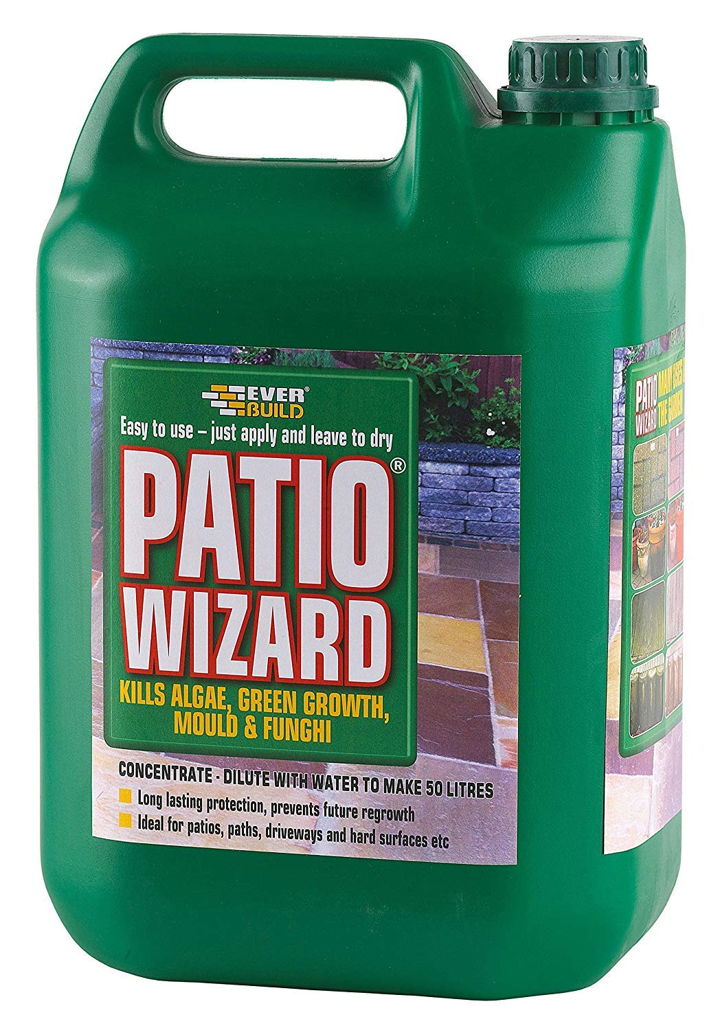 Everbuild Patio Wizard Moss, Mould and Algea Remover 5ltr PATWIZ5-EB