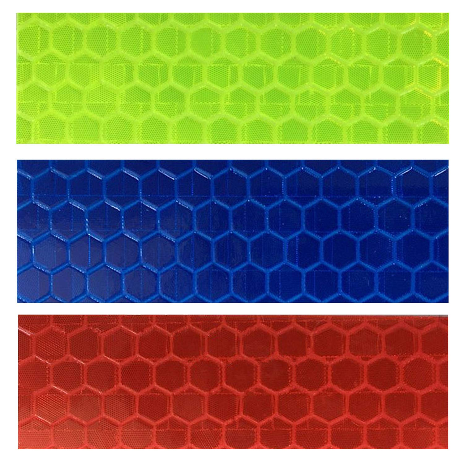 GOTOONE Reflective Tape Stickers (36 Pack) Diamond Grade Safety Warning Conspicuity Tapes Waterproof 0.63 x 2 Inch Multicolored