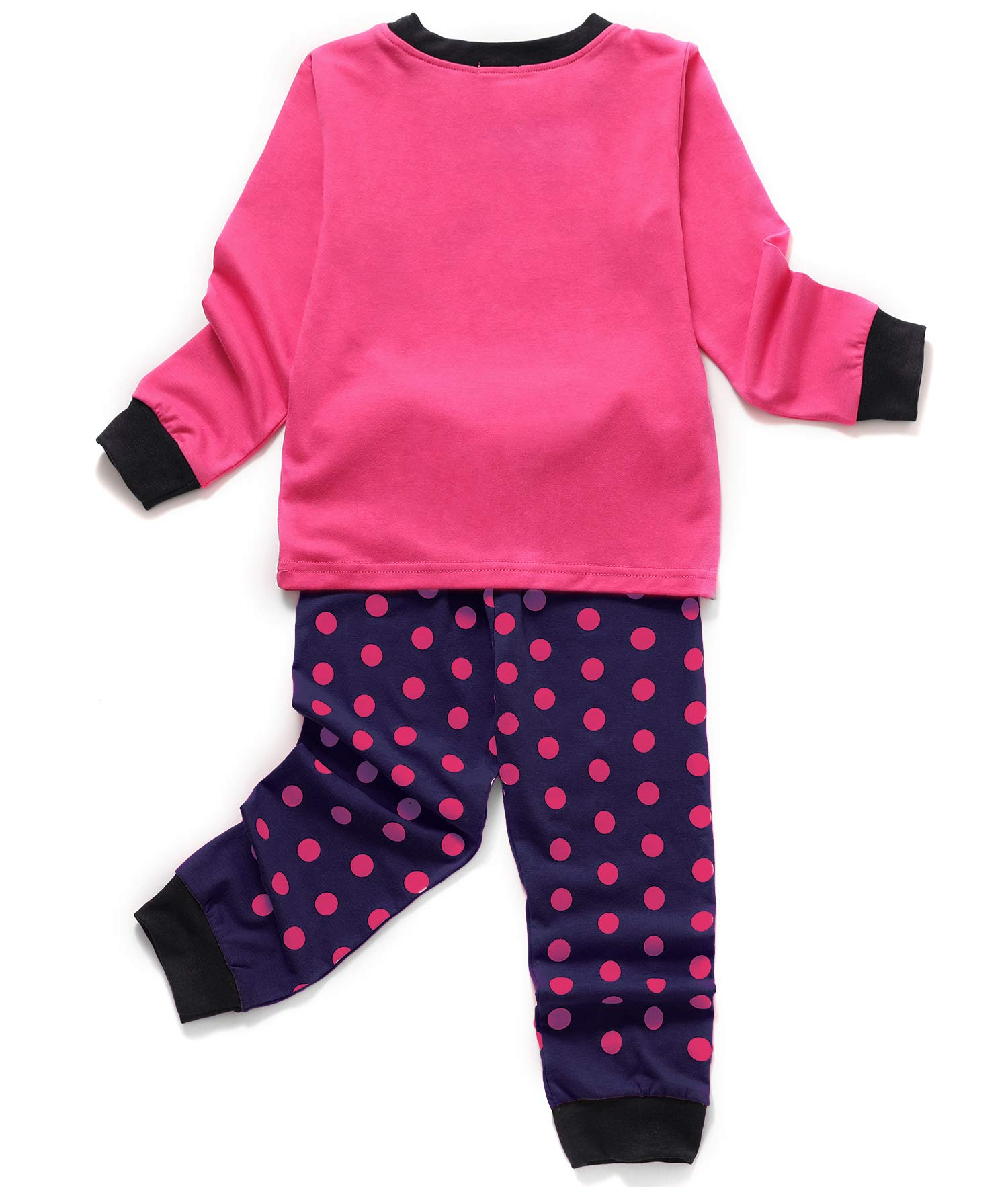 Girls Owl Pajamas Toddler Kids Long Sleeve PJs 2 Pieces Cotton Sleepwear Set Size 4-5 Years