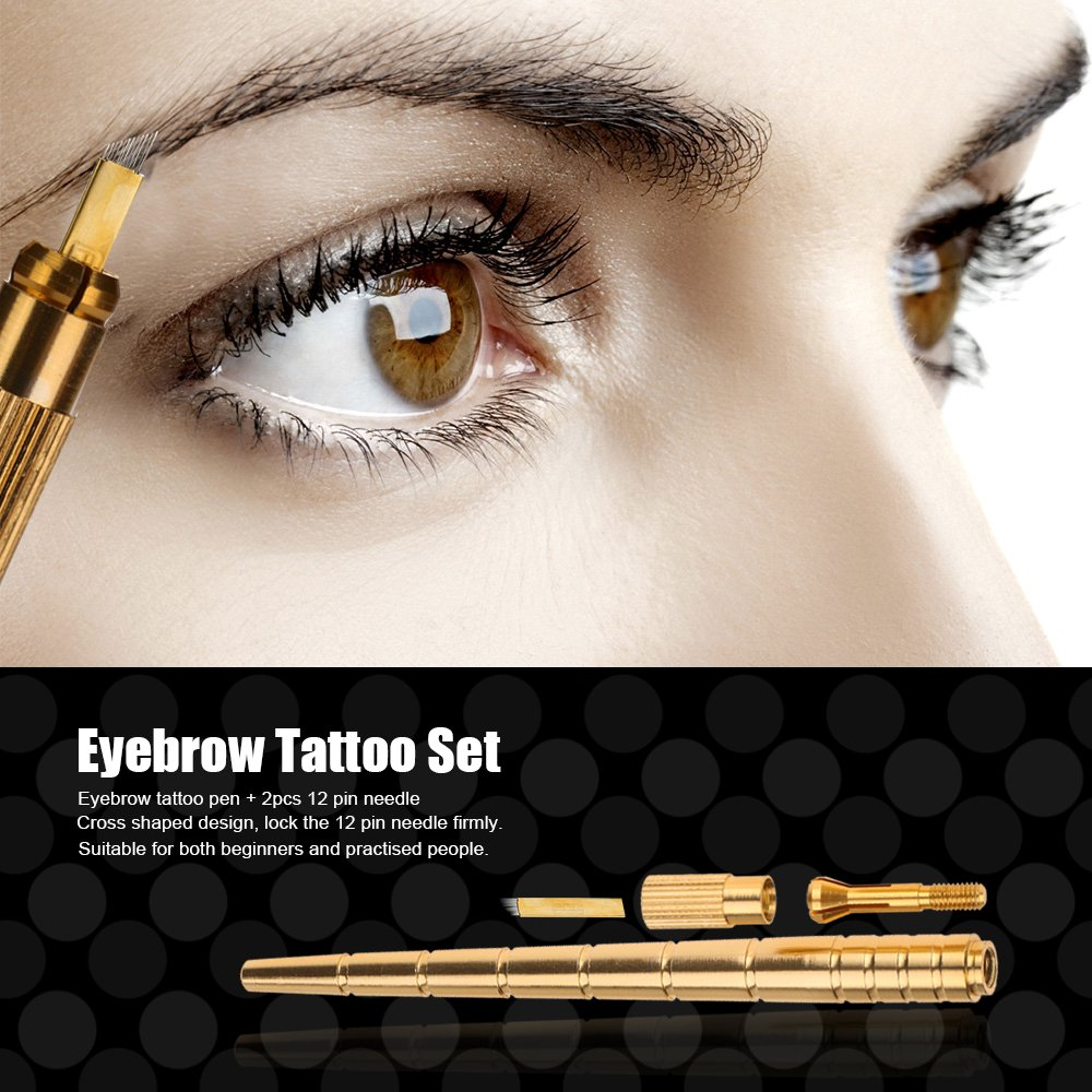 Rosba (TM) Manual tatuaje de la ceja de la pluma + 2 piezas de 12 ...