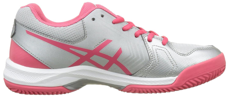 Gel-Dedicate 5 Clay, Zapatillas de Tenis para Mujer, Gris (Silver/Rouge Red/White), 40 EU Asics