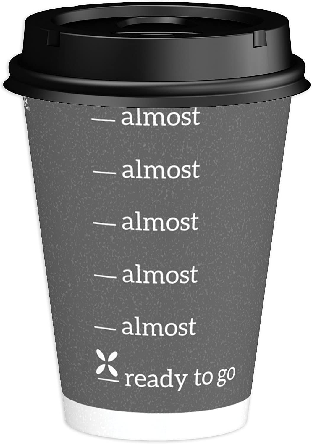 Dixie To Go Disposable Paper Cups and Lids, 14 Count, 12 Ounce Coffee Cups; Designs May Vary Pack of 2