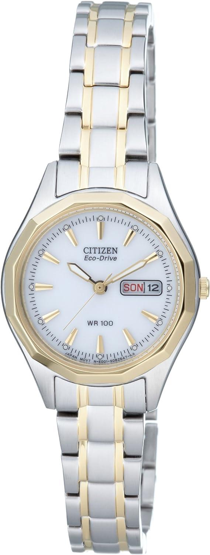 Citizen EW3144-51AE - Reloj para Mujeres, Correa de Acero Inoxidable Chapado Multicolor