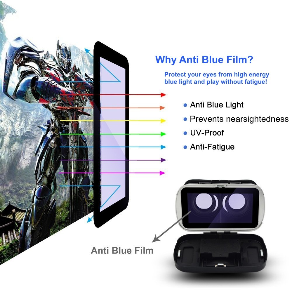 Vr Pro Virtual Reality Headset 88205a Iphonesamsung Speed Vke Tachograph Hidden Wireless Wif I 1080p Hd Wide Angle Night Vision Machine Iphonesamsungandroid Smartphones Blue Cell Phones Accessories