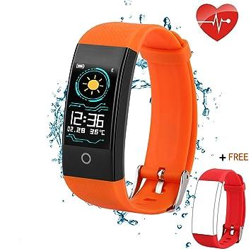 Amazon.com: QWMoonRu - Rastreador de actividad física con ...