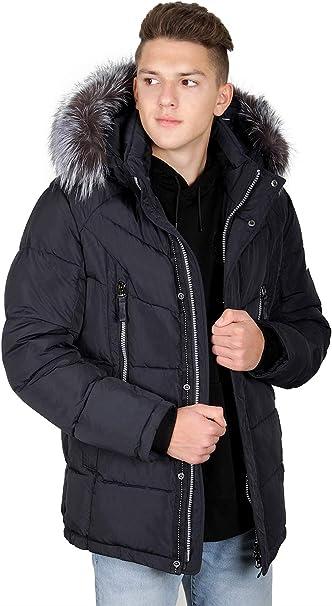 7W26M Herren Winterjacke in Daunen Optik Winter Jacke Kings