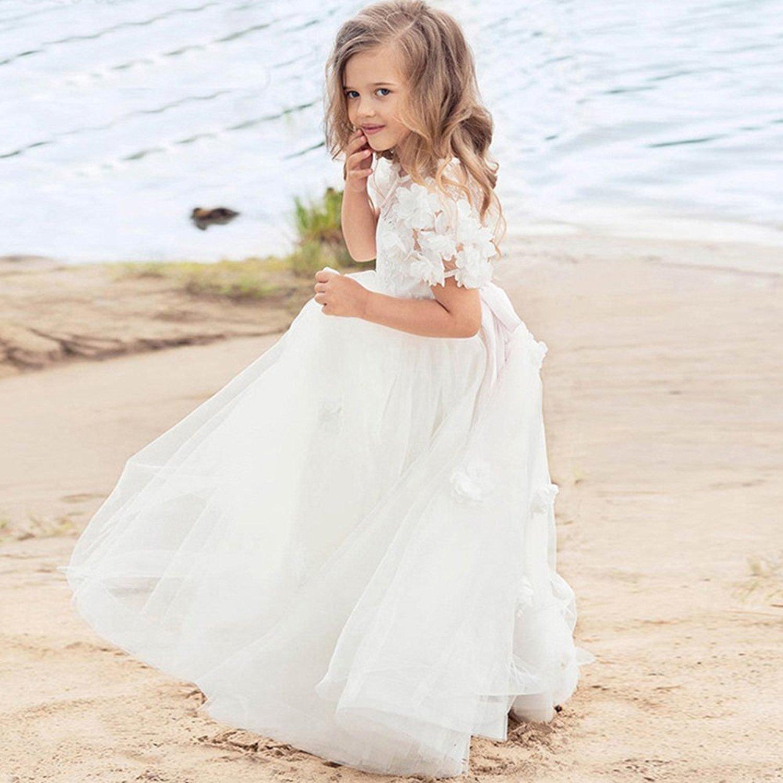 Tianshikeer Tianshikeer Hochzeitskleid Kinder Prinzessin Lang ...