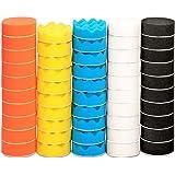 Almofada de polimento, ZFE 50 pçs 3 polegadas/80 mm Esponja Buffing Pads, Kit de almofada de polimento de espuma para lixamen