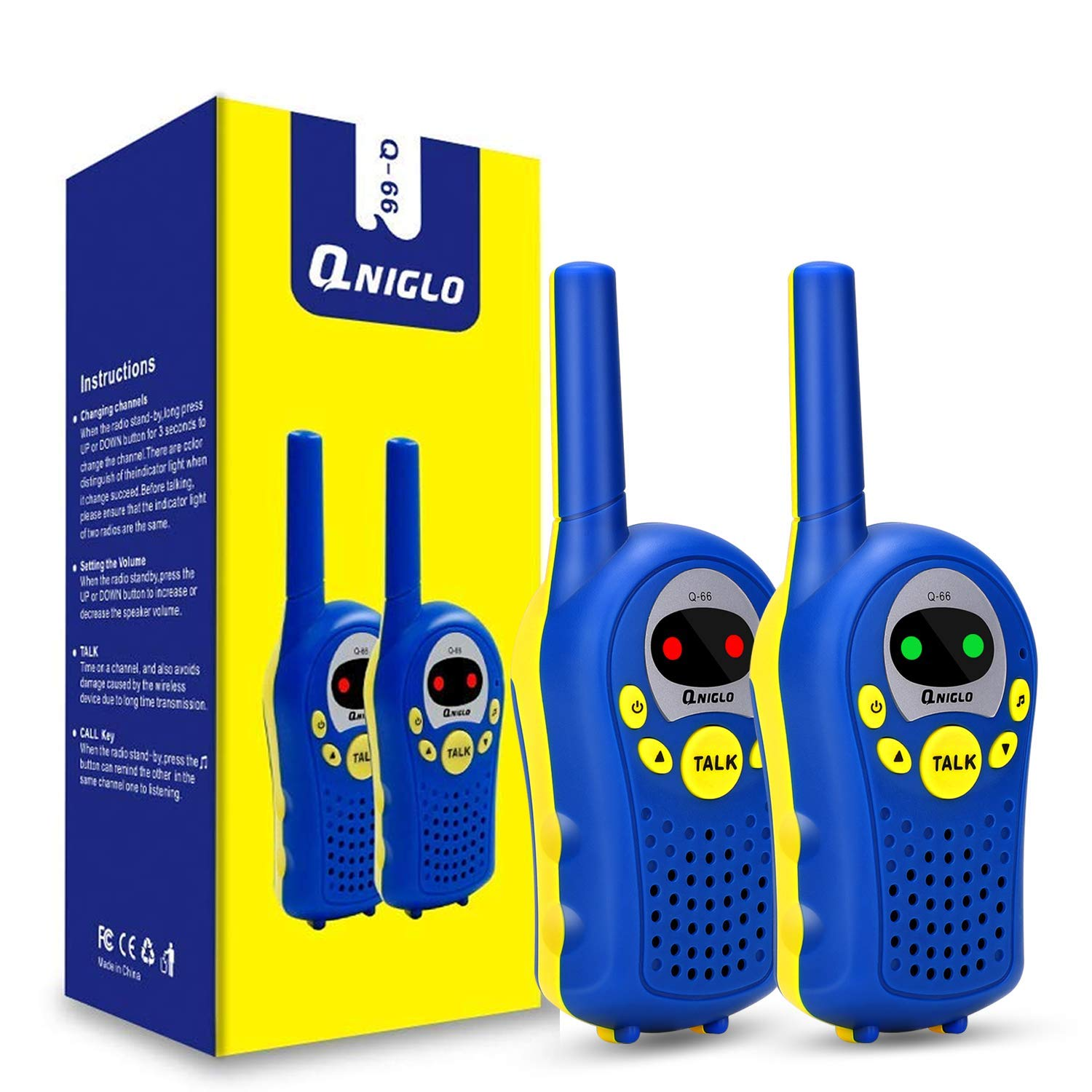 ENGPOW Walkie Talkies for Kids, Toys Gifts for 3-12 Years Old Boys Girls,Easy to Use Mini Walkie Talkies with Long Range 3 Channels