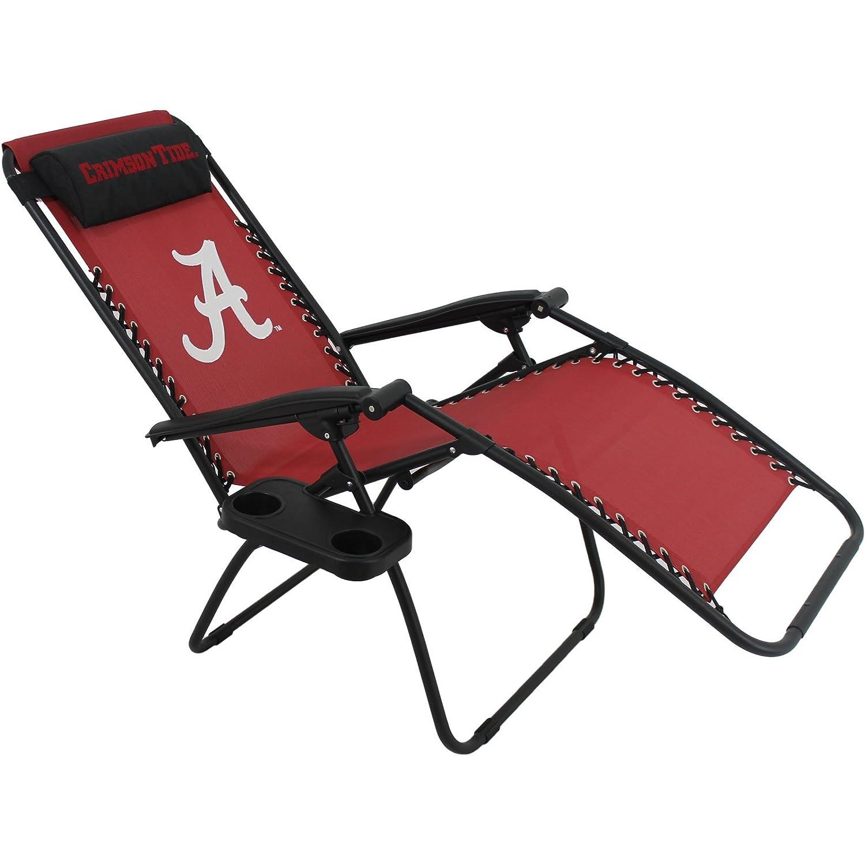 "Amazon NCAA Alabama Tide Zero Gravity Chair 26"" x 65"
