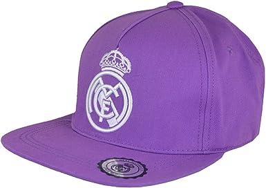 Real Madrid CF - Gorra Oficial con Visera Plana (Talla Única ...