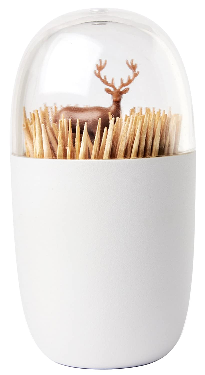 Deer Meadow Toothpick Holder by Qualy Design. Brown Color. Unique Home Design Decoration. Unusual Gift. by Qualy 521706900