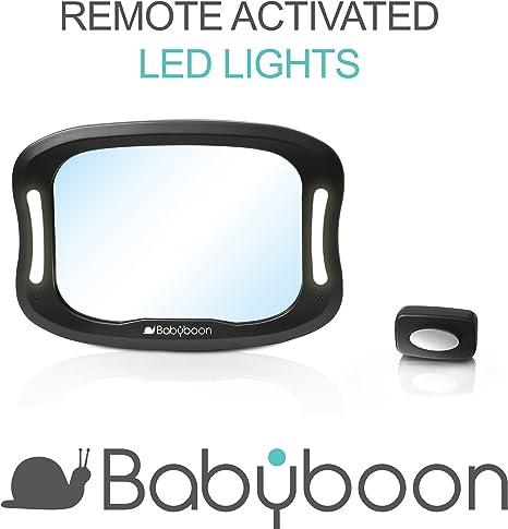 Espejo retrovisor bebé coche Luz LED - Visión excelente de su bebé ...