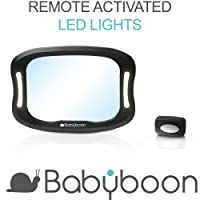 Baby Car Mirror LED Light - View Child in Rear Facing Car Seat with Superior View & Clarity. Shatterproof   Anti-Wobble Fixing Straps   360° Adjustable   Fits All Vehicles   Easy to Install. TRY NOW!