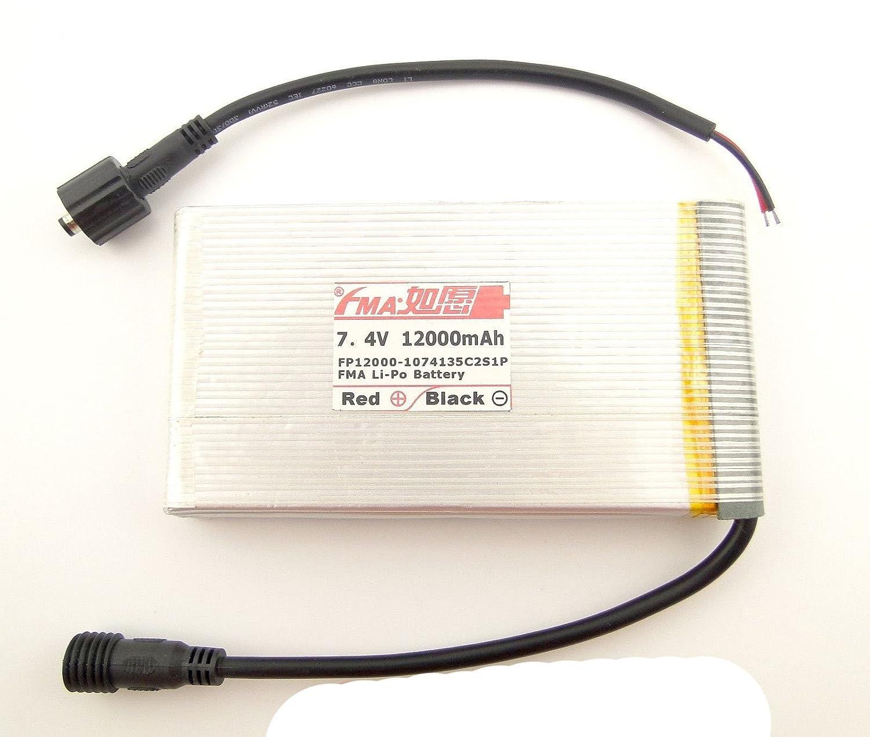 Li - Poバッテリー7.4 V 12000 mAh LEDバイクライト1074135 C2s1p B0725R32KV