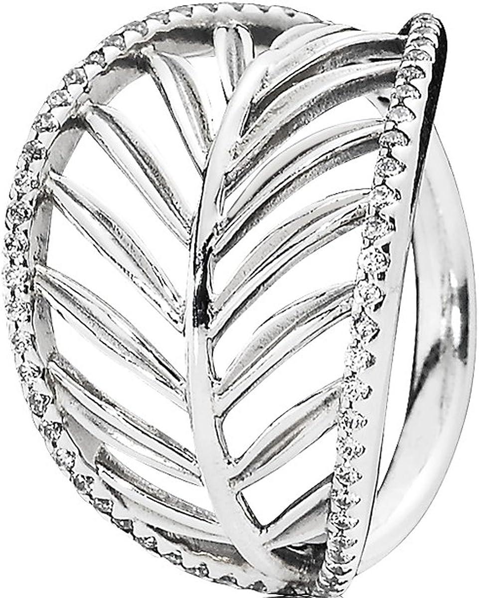 anello pandora con foglie