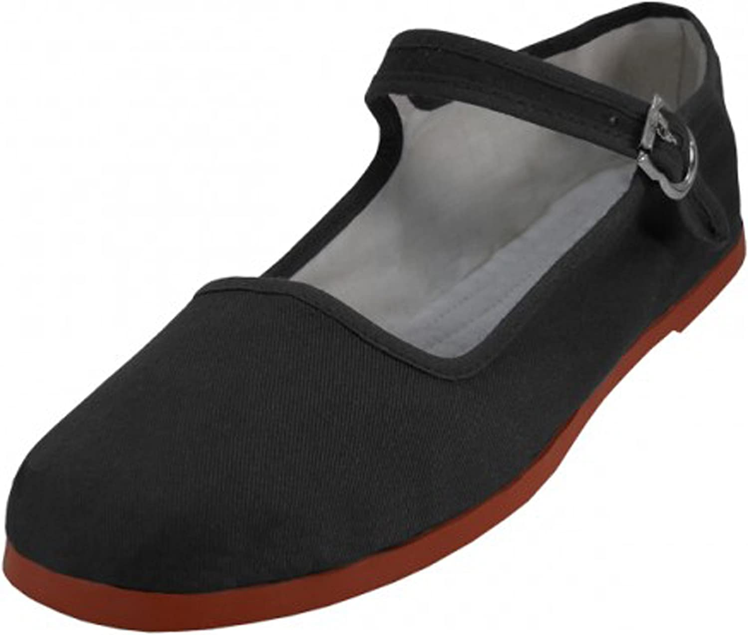 11, 114 Black Easy USA Womens Cotton Mary Jane Shoes Ballerina Ballet Flats Shoes