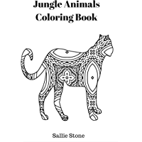 Jungle Animals Coloring Book (English Edition)