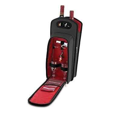 KOVOT 9 Piece Wine Travel Bag and Picnic Set Including 2 Wine Glass Holder Stakes
