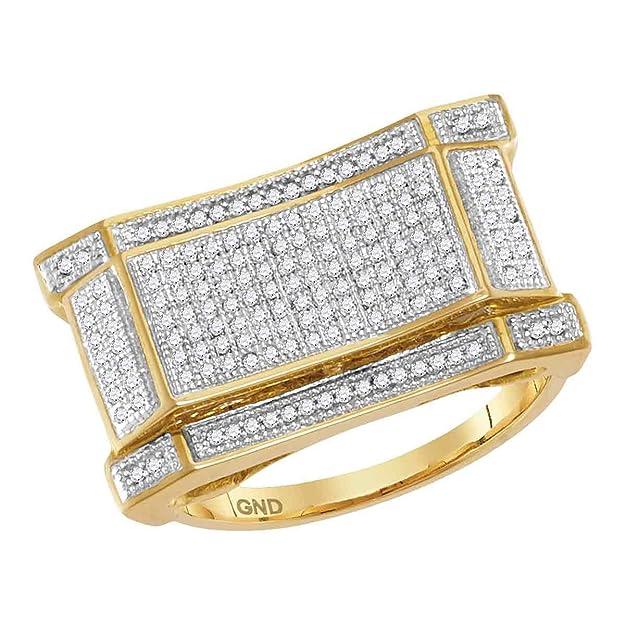 Anillo rectangular de oro amarillo de 10 kt diamante cóncavo 1/2 kthttps://amzn.to/2Eyqjsq