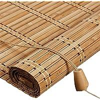 Buiten-bamboe rolgordijn voor venster/Gazebo/Balkon/Patio, Bamboe jaloezieën met Valance - 70/80/90/100/110/120/130…