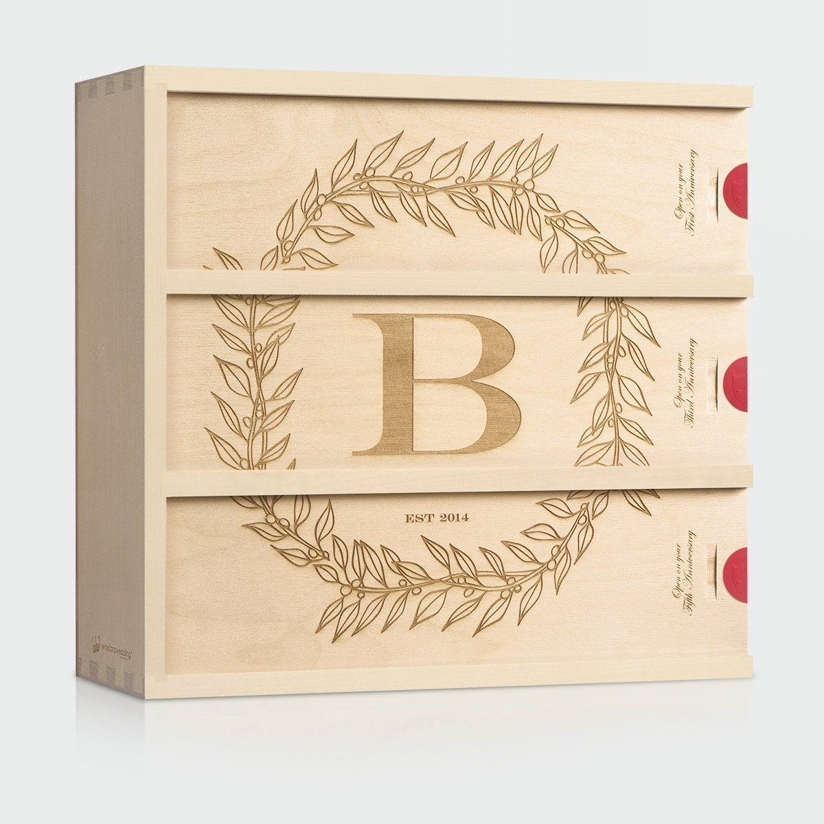 Monogram Wedding Wine Box - Monogram Cottage // Wedding Gift for the Couple // Anniversary Wine Box // WineforaWedding®