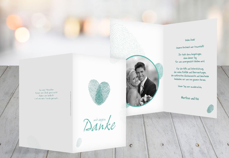 Kartenparadies Danksagung für Hochzeitsgeschenke Hochzeit Dankeskarte fingerprint, hochwertige Danksagungskarte Hochzeitsglückwünsche inklusive Umschläge   20 Karten - (Format  105x148 mm) Farbe  RosaLila B01N7ULYV7 | Neues Produkt  |