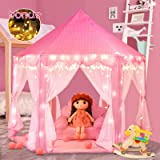 Moncoland Princess Castle Girls Play Tent Toy Kids Large Fairy Playhouse Gift for Children Toddlers Indoor and Outdoor…