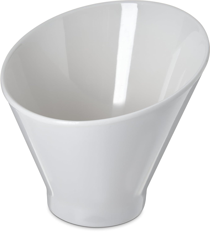 Bone 6-16 oz Carlisle HAL0602 Halcyon Angled Appetizer Cup