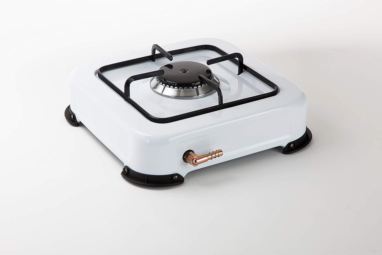 Jata CC703 Cocina de Gas para Camping con 1 Quemador Con Parrilla Apta para Todo Tipo de Ggas Licuado: Amazon.es: Grandes electrodomésticos