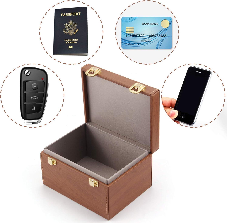 Migaven Faraday - Caja de Bloqueo de señal RFID con 5 Fundas Protectoras para Llaves de Coche, sin Llave, protección de privacidad: Amazon.es: Hogar