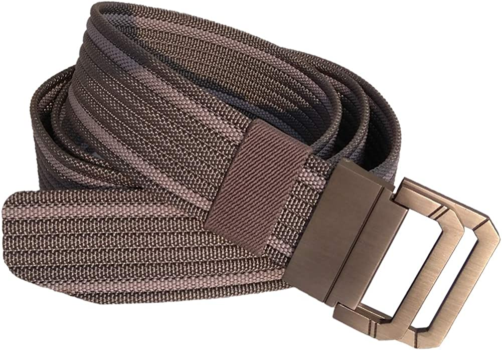 Two Colors Nylon Webbing Belts For Men D-ring Big And Tall Cut To Fit