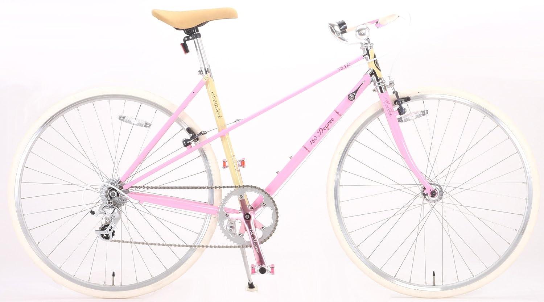 180Degree(ワンエイティディグリー) 折りたたみ自転車 700C TTM02 ECRASER クロモリ製 8段変速 ピンク B009QV3218