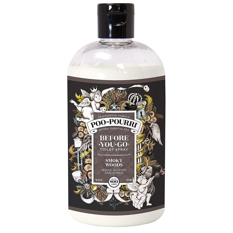 Poo-Pourri Before-You-Go Toilet Spray 16-Ounce Refill Bottle (Smoky Woods)