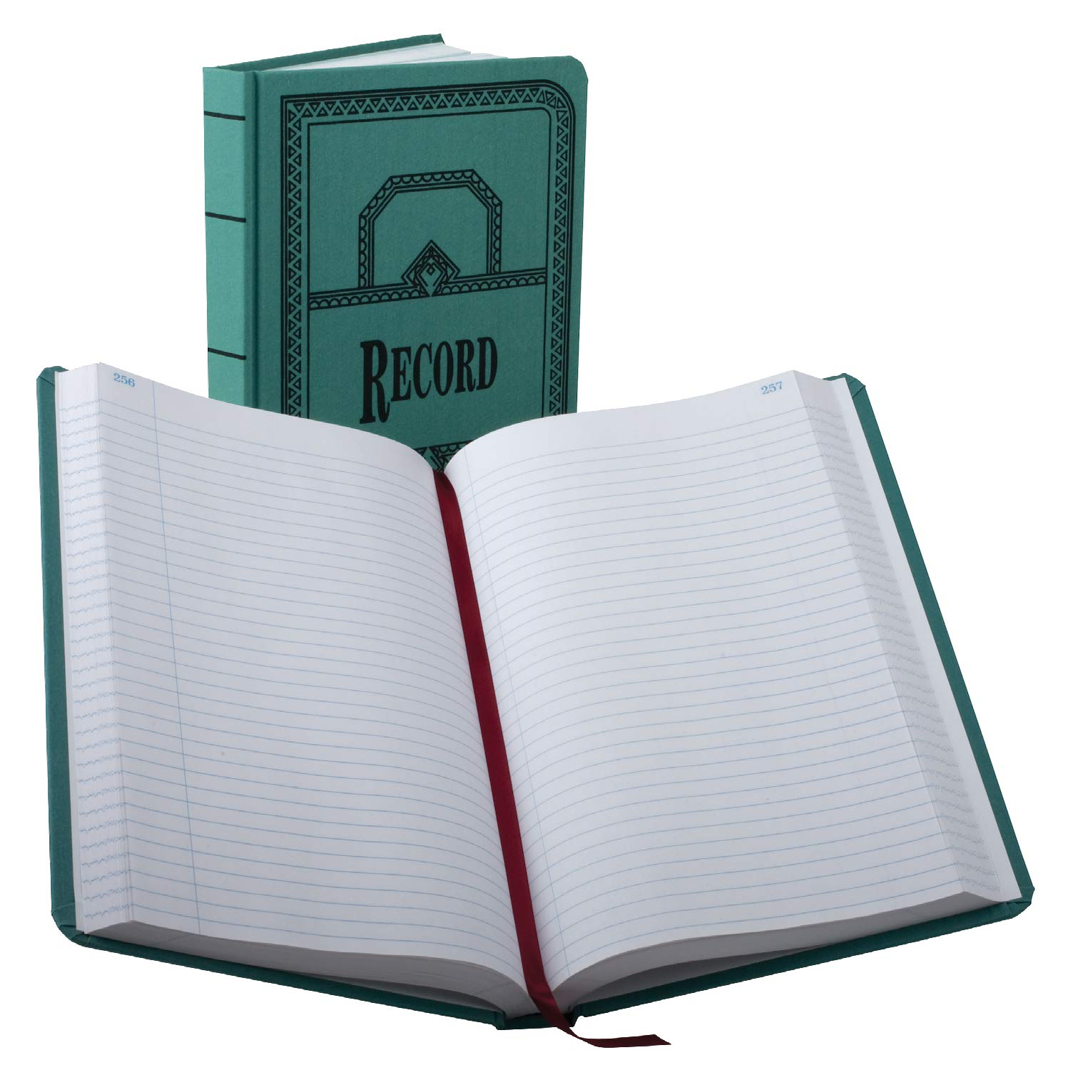 Boorum & Pease 66500R Record/Account Book, Record Rule, Blue, 500 Pages, 12 1/8 x 7 5/8