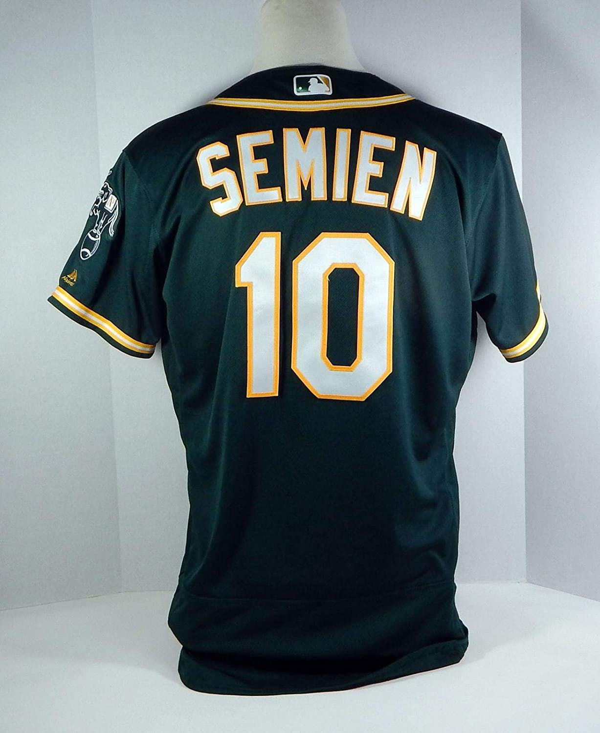 promo code 981d1 1a46c 2018 Oakland Athletics A's Marcus Semien #10 Game Issued ...