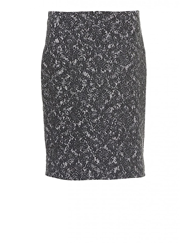 Womens Betty Barclay Skirt - Grey/Cream