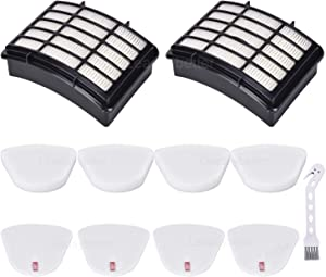 2 HEPA + 4 Foam & Felt Filters for Shark Navigator Lift-Away NV350, NV351, NV352, NV355, NV356E, NV357, NV360, NV370, NV391, UV440, UV490, UV540, Compare to Part # XFF350 & XHF350 Replacement Filter