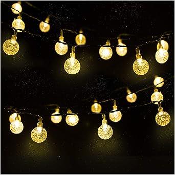 Cadena de Luces, Mr.Twinklelight 4.5M 30 LED Solar Bola de Cristal ...