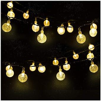 Guirnalda luces exterior solar, Mr.Twinklelight luces solares 4.5M 30 LED, Luces
