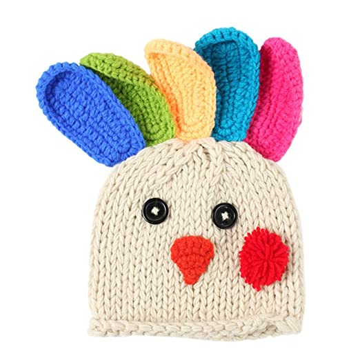 Amazon Queenmore Thanksgiving Knitted Turkey Hat Baby Crochet