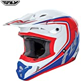 Fly Kinetic Fullspeed Adult Off Road MX Enduro Helmet (White/Red/Blue)
