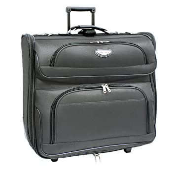 Amazon.com   Travel Select Amsterdam Rolling Garment Bag Wheeled Luggage  Case, Gray (23-Inch)   Garment Bags 45264d939c