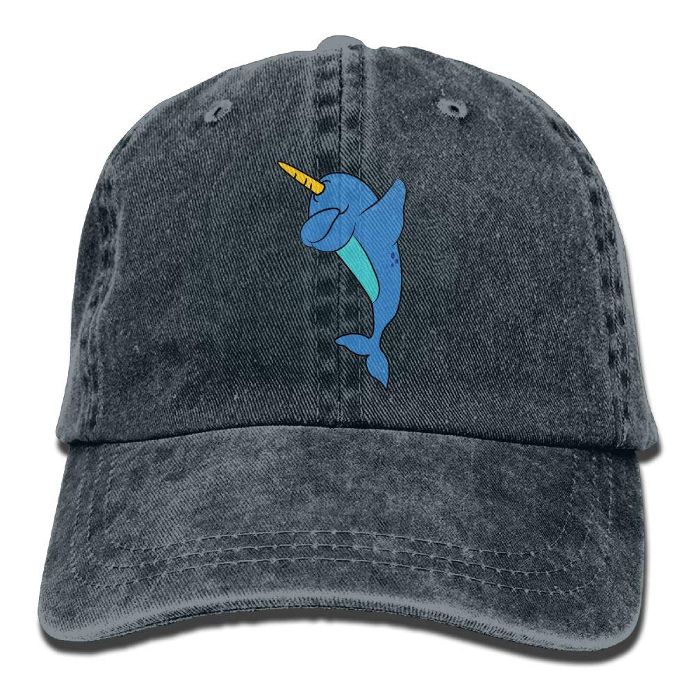 wuhgjkuo Dabbing Narwhal Dad Hat Trucker Hat Adjustable Baseball Cap