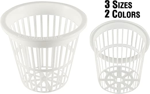 3 Inch White Slotted Mesh Net Pot 25 Pack  Lawn Garden Planter Hydroponic  Patio