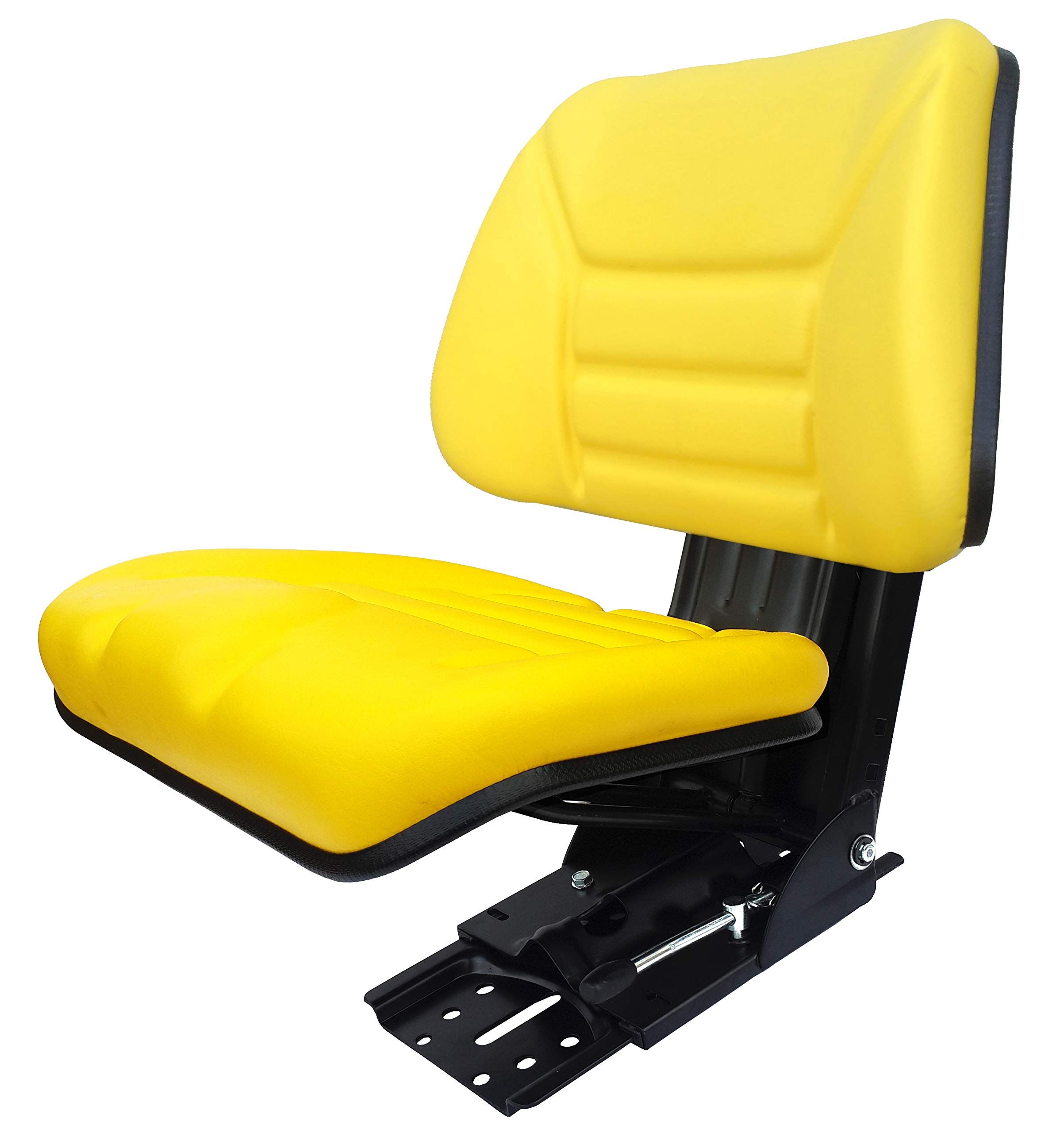 Star ECO 109 Yellow Universal Trapezoid Suspension Tractor Seat (Replacement for John Deere Vehicles)